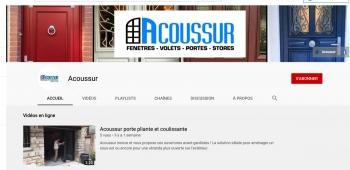 Acoussur possède sa chaine Youtube !