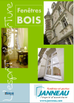 Couverture Catalogue Janneau - fenêtres bois